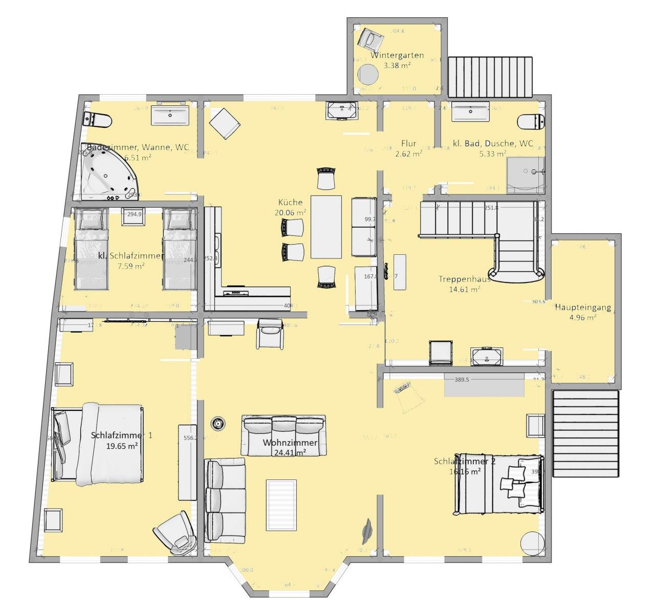 Erdgeschoss-Beletage-Whg.
